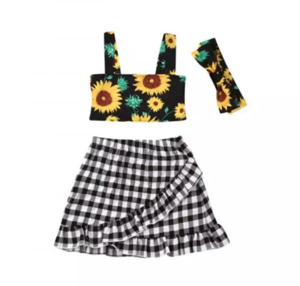 Sunflower Print 3 Pc Set