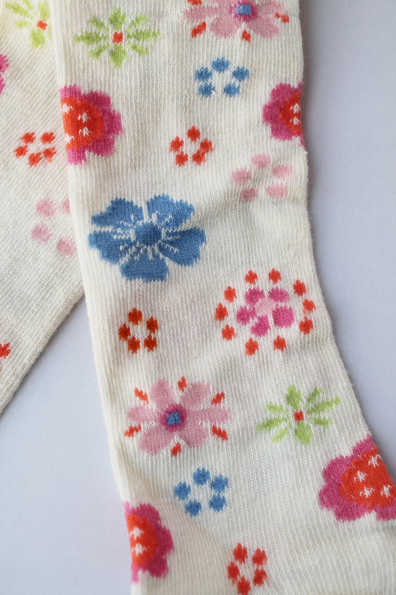 Floral Woolen Pantyhose Stockings for Girls