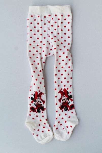 Polka Dot Woolen Pantyhose Stockings for Girls