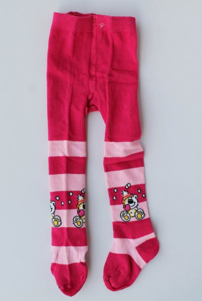 Winterwear Pink Striped Pantyhose Stockings for Girls