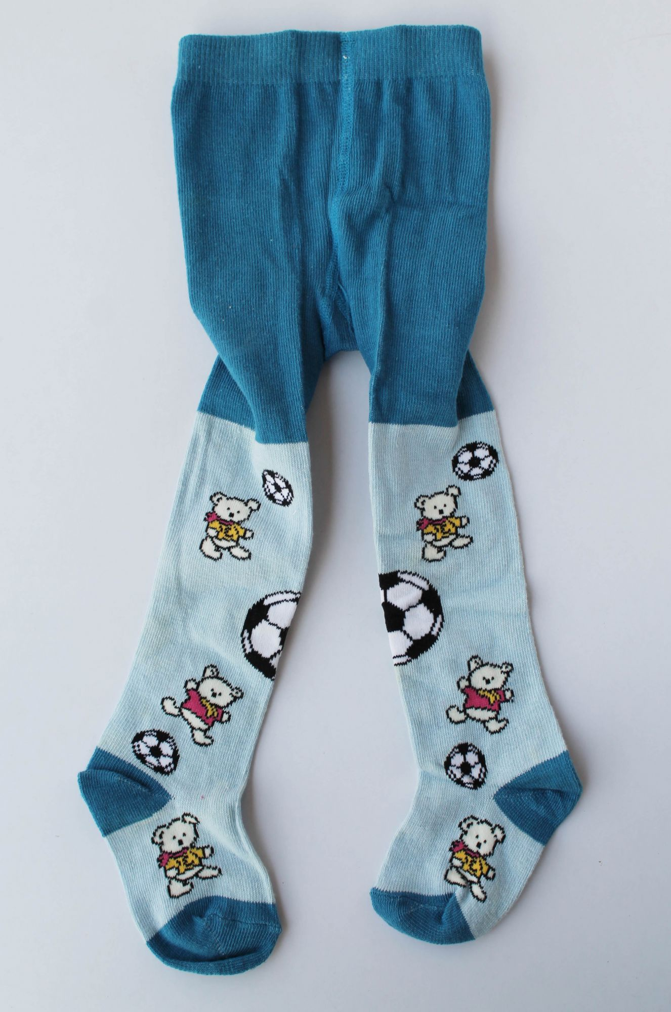 Printed Woolen Pantyhose stockings for Baby Girls-Blue