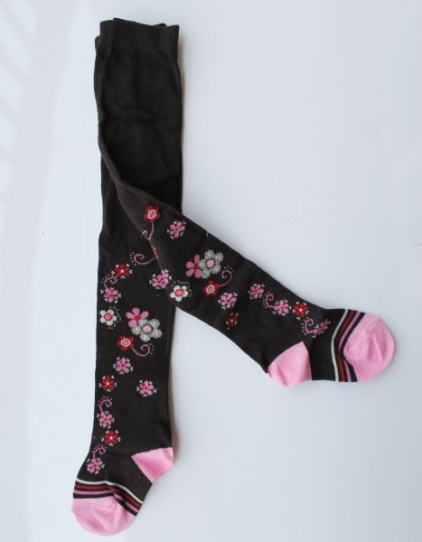 Printed Floral Woolen Pantyhose Stockings for Baby Girls