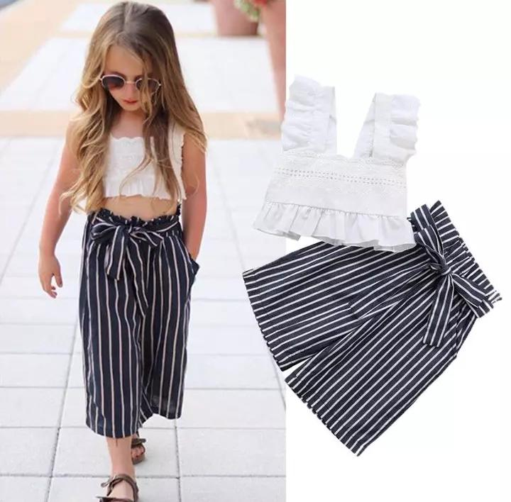 White and Black Summer Set