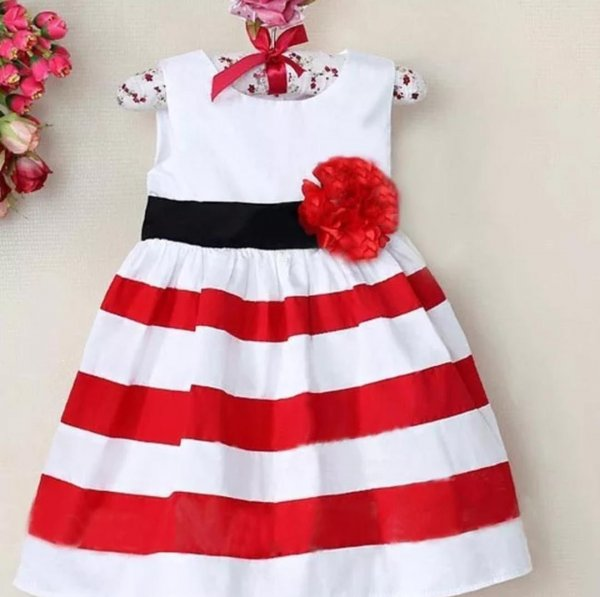 White And Red Summer Dress