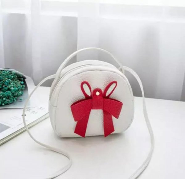 White Bag with Red Bow