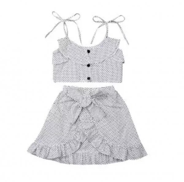White Skirt Set in Cotton