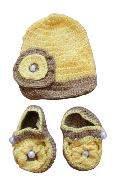 Yellow Cap with Booties
