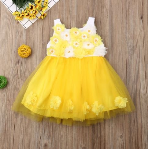 Yellow Floral Frock