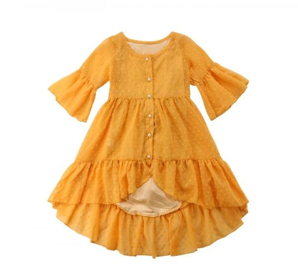 Yellow High Low Frock