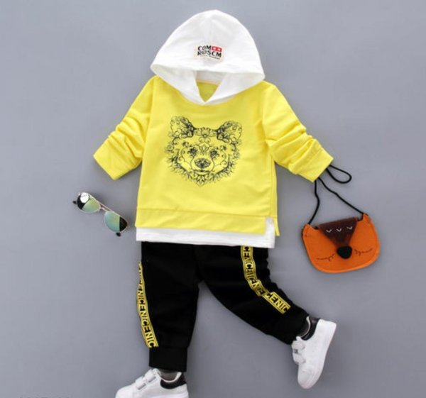 Yellow Hood 2 Pc Set