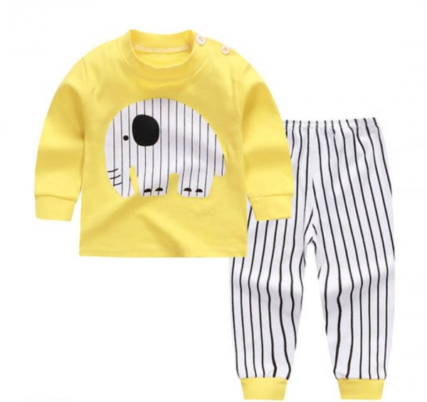 Yellow Printed Sleepwear For Boys