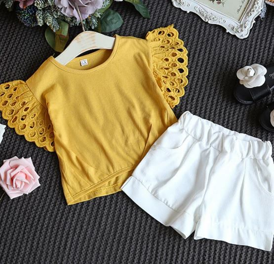 Yellow White Summer Set